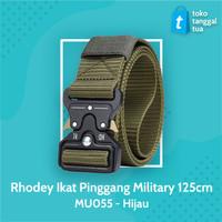 Rhodey Tali Ikat Pinggang Canvas Military 125cm - MU055 - Hijau BEST