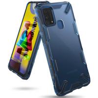 Hardcase Premium Casing Rearth Ringke Fusion X Samsung Galaxy M31 Case - Space Blue, M21
