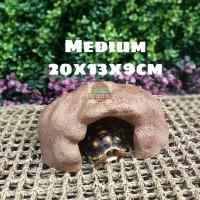 Hiding Cave Rock M / Tempat Sembunyi Reptil Torto Ular Gecko Iguana