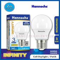 Lampu LED/Bohlam LED Hannochs INFINITY 3Watt / 3W Garansi 2Th