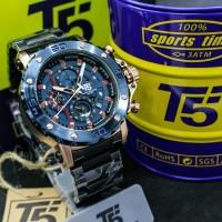 T5 H3723 BIRU ROSE jam tangan pria cowok chronograph original