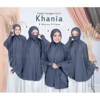 Jilbab Hijab Bergo French Khimar Syar'i Cadar Lengan Khania 4in1