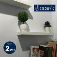 [Decorunic] Floating Shelf - Rak Dinding Minimalis ukuran 60, 60 cm