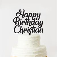 CUSTOM CAKE TOPPER ACRYLIC / CUSTOM TOPPER KUE BIRTHDAY
