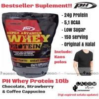 PH Whey Protein 10 lb / Pro Hybrid / Suplemen Fitness / Free Singlet
