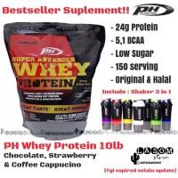 PH Whey Protein 10 lb / PH Nutrition / Suplemen Fitness / Free Shaker