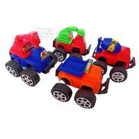 Isi 4 Buah Mainan PullBack Mini Truk Konstruksi Multiwarna
