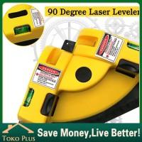 Serbaguna Alat Ukur meteran/waterpass laser siku bangunan 90 Derajat