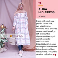ALIKA MIDI DRESS / LONG TUNIK / LONG OUTER baju wanita wolfis monalisa