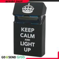MINIBA Cover Kotak Rokok Silicone Motif Keep Calm and light Up - Black