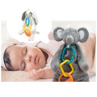 BONEKA TEETHER RABBIT BEAR BABY DOLL BABY STROLLER TOYS MAINAN ANAK