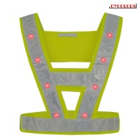 16LEDs Safe Reflective Vest with Red Light for Outdoor Wear