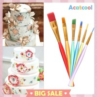 6pcs DIY Tool Pen Cake Icing Decorating Painting Brush Fondant Sugar
