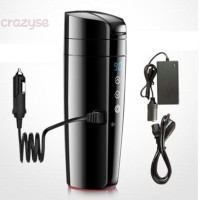 Electric Kettle Car Black Home Heated Insulate Water Temp Control