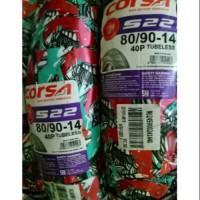 Ban tubeless belakang corsa S-22 uk. 80/90-14 yamaha mio/mio j/soul