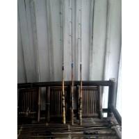 Joran bambu cendani rell seat, sambung dua. (2 section). collection