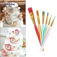 (sho)6pcs DIY Tool Pen Cake Icing Decorating Painting Brush Fondant