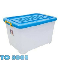 116 Container Mega Box Plastik CB 130 Liter Dengan Roda CB130 Kotak MC