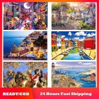 1000pcs/set Mainan Puzzle Gambar Pemandangan Untuk Anak/Dewasa