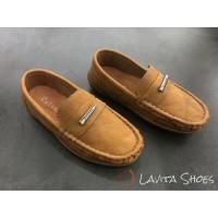 Calvins Sepatu Pantofel Anak Laki-laki Vins-7 - 21, Hitam