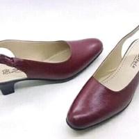 sandal slop wanita kulit asli terbaru dan termewah