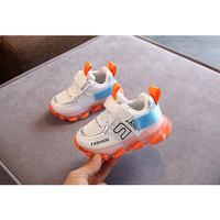 Sepatu Sneakers Anak laki-laki POD Sys 015 Fusion C fashion Sepatu LED - Orange, 21