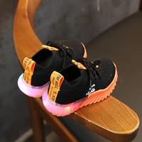 Sepatu Sneakers Anak Laki-laki TM Will 014 Sepatu LED Prime Knit keren