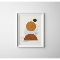 Poster Modern Geometric 3/Poster Moden Geometri/Hiasan Dinding (Small)