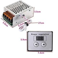Dimmer 4000 W 4000W watt motor speed controller dengan display