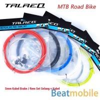 Kabel Tali Selang Rem/Brake Sepeda Sets MTB Road Original Merek TRLREQ