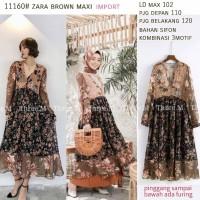 Brown Maxi Zara Import Maxi Dress Bangkok Gamis Bangkok Gamis Terbaru
