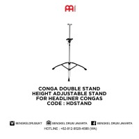Meinl CONGA DOUBLE STAND HEIGHT ADJUSTABLE STAND HDSTAND