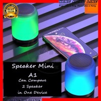 Speaker A1 LED Bluetooth Mini Music Box 1 Device Bisa Konek 2 Speaker