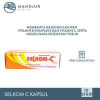Selkom C Dus Isi 10 Strip Suplemen Vitamin C dan B kompleks