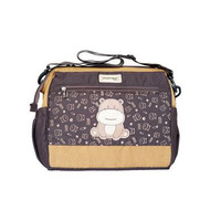Tas Perlengkapan Bayi Medium Dialogue Baby Hippo Series   Diapers Bag - Cokelat