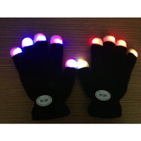 Yiwu Luminous Colorful LED Light Glove / Sarung Tangan LED