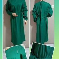 jubah operasi gaun bedah surgical gown plus tutup kepala