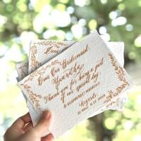 Thank you Card Calligraphy Custom - Kartu Ucapan - wedding stationery