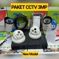 PAKET CCTV 4CH FULL HD 3MP KOMPLIT TINGGAL PASANG