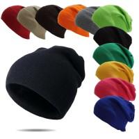 topi beanie hat kupluk polos bahan spandek bagus bukan rajutan kasar - Putih