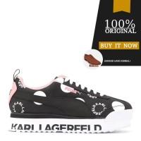 Sepatu Original Puma x Karl Lagerfeld Roma Amor Polkadot - Black/Pink