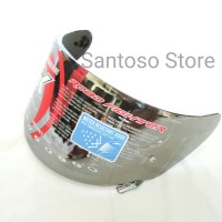 Sparepart Kaca Flat Visor Helm NHK RX9 GM Race Pro Silver Anti Water