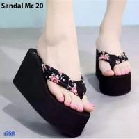 Sandal Weges Casual Wanita / Sandal Jepit Weges Murah -Mc20 bunga