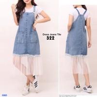 Midi Dress Overall Denim / Dress Jeans Overall- ov 322