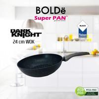SUPER PAN BOLDe WOK PAN 24 CM GRANITE COATING FREE BUBBLE