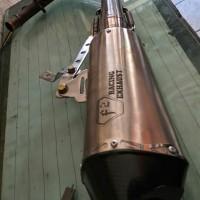 knalpot vespa matic merk F2 racing exhaust