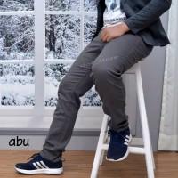 Celana Chino Gery / Abu-abu Panjang Pria size 27 - 34 Bahan Strech