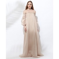 ATELIER MODE Cocktail Dress Off Shoulder Illusion Pax Dress Wanita