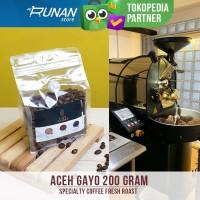 Biji Kopi Aceh Gayo Arabica Natural 200 gram Specialty Coffee