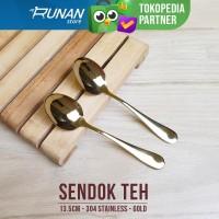 Sendok Teh Emas - Tea Spoon Gold - Sendok Kopi Hotel Serving Spoon